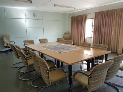 Boardroom with table and chairs donated by Nedbank 2
