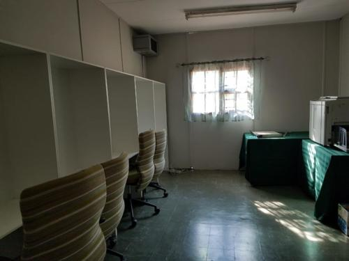 Computer room with new built in furniture and computers