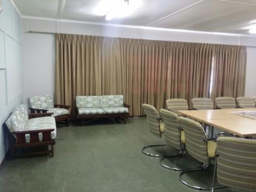 Reupholstered chairs in boardroom